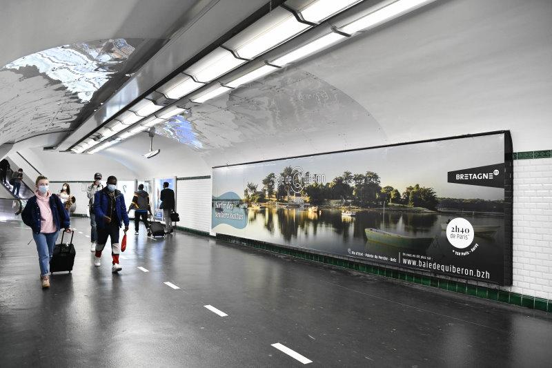 metro, affiche, panoramique