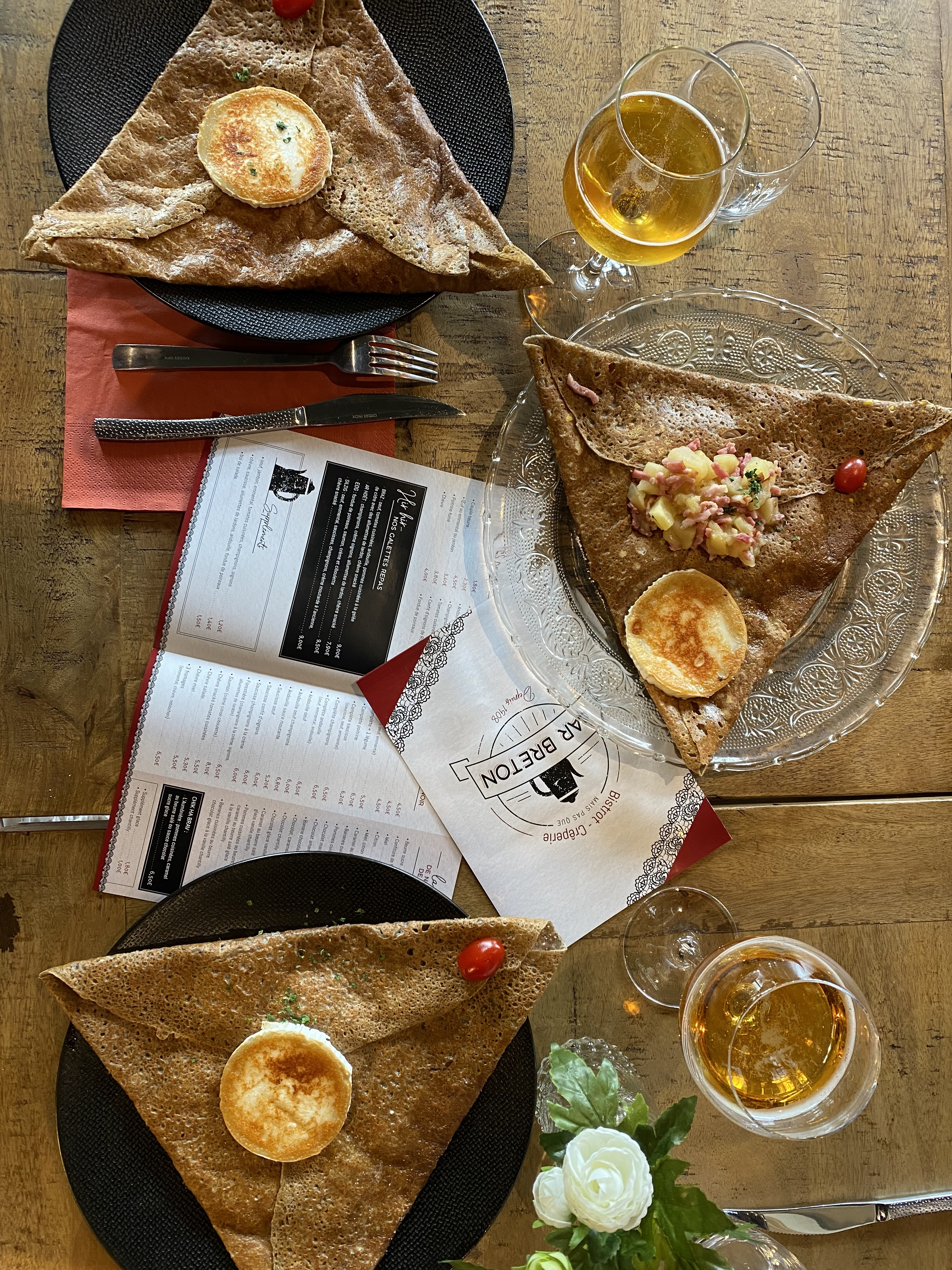 mise en page, bar breton, crêpe