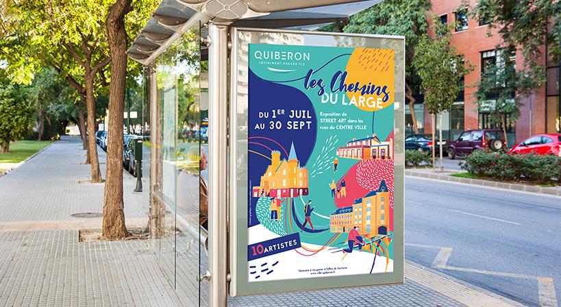 streetart, quiberon, affiche